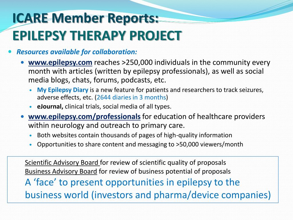 epilepsy therapy project