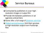 service bureaus