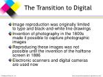 the transition to digital