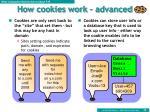 how cookies work advanced