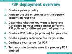 p3p deployment overview