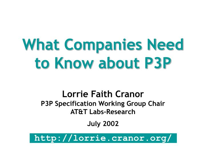 what companies need to know about p3p n.