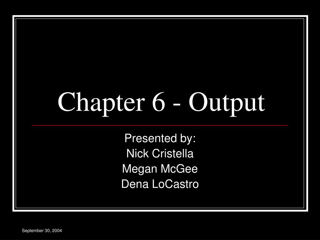 chapter 6 output l.