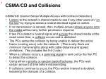 csma cd and collisions