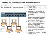 sending and receiving ethernet frames via a switch31