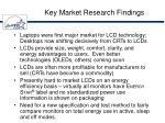 key market research findings