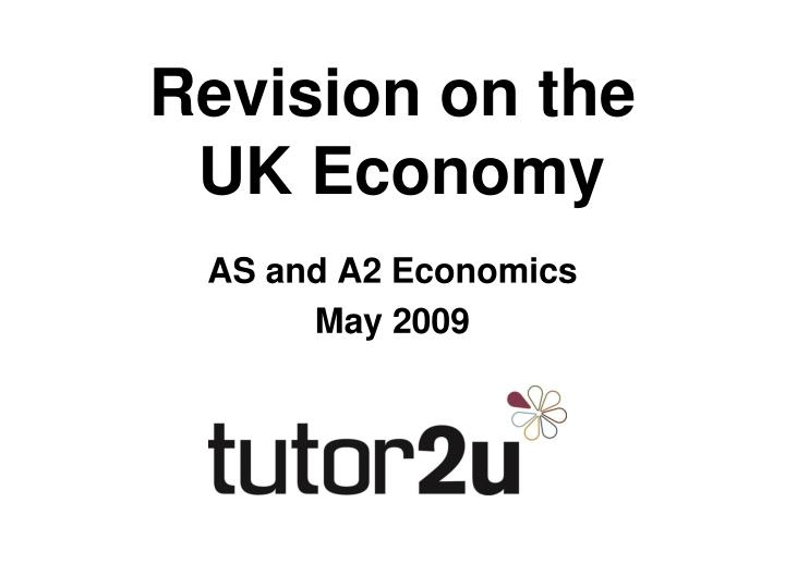 revision on the uk economy n.