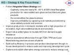 ais strategy key focus areas