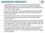 real estate boom glass demand