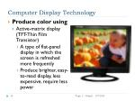 computer display technology14