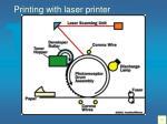 printing with laser printer