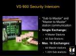 vs 900 security intercom