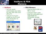 hotsync pda memory