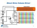 direct drive column driver