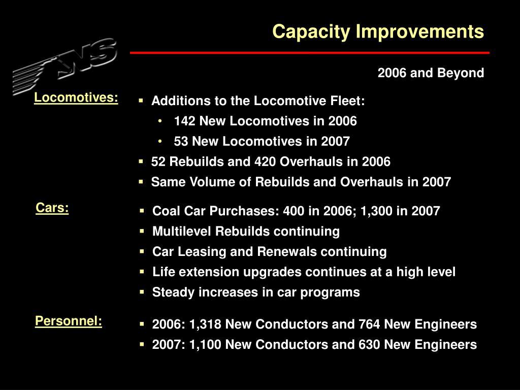 Capacity Improvements