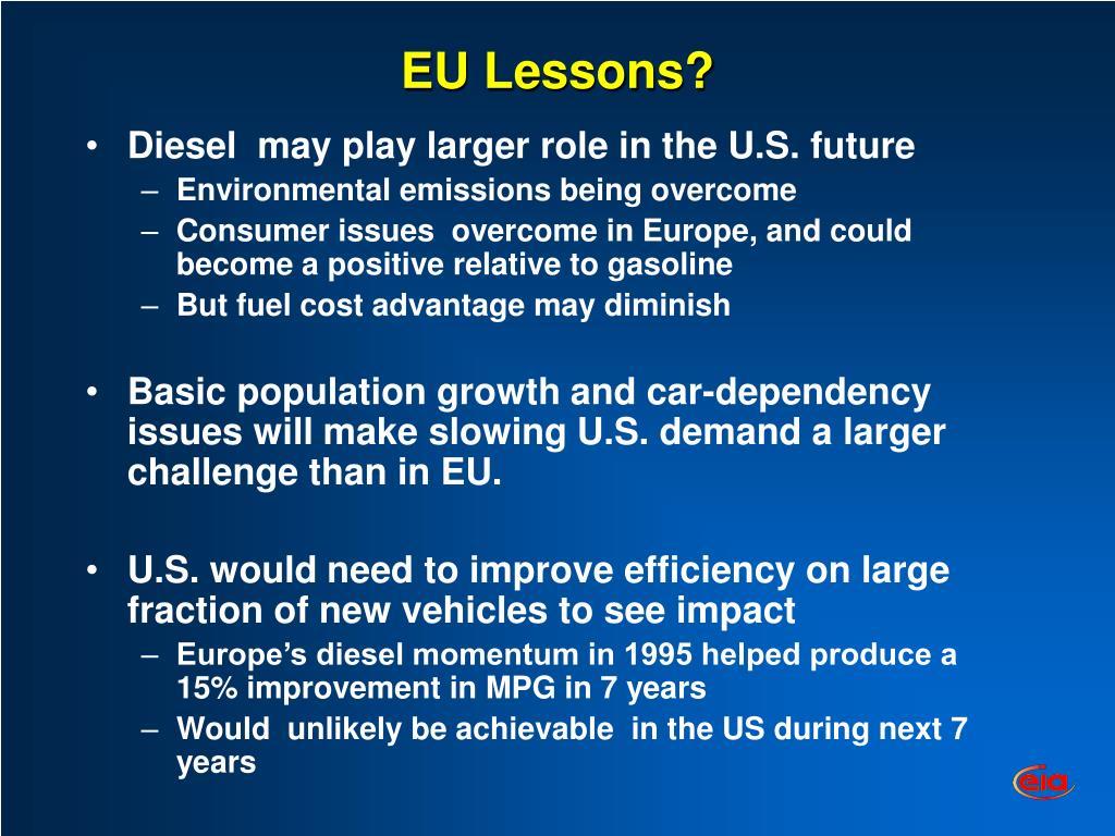 EU Lessons?