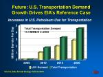 future u s transportation demand growth drives eia s reference case