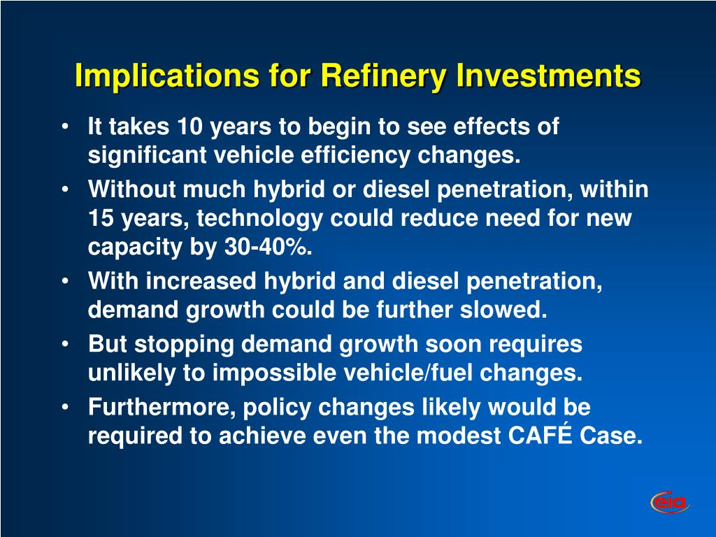 Implications for Refinery Investments