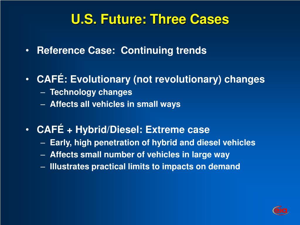 U.S. Future: Three Cases