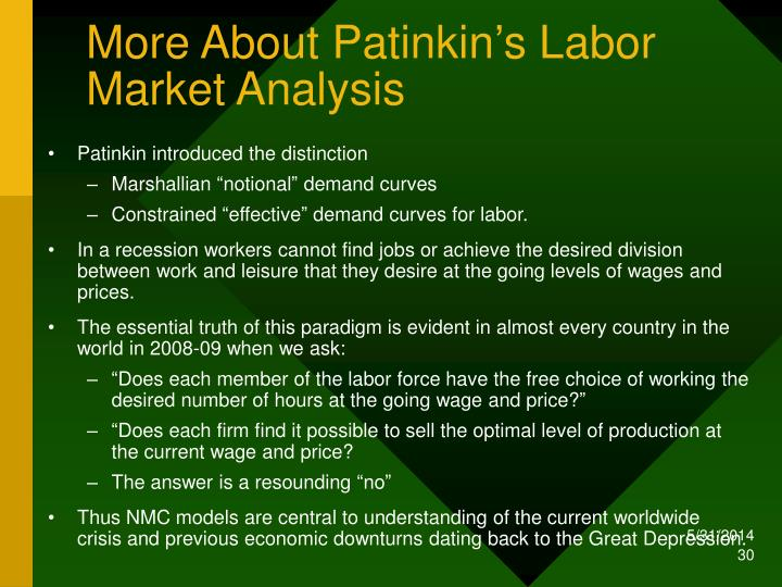 More About Patinkin's Labor Market Analysis