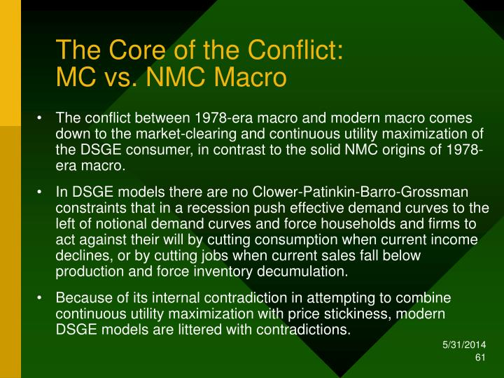 The Core of the Conflict: