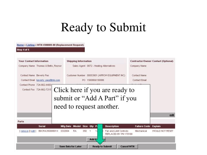 Ready to Submit