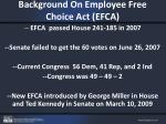 background on employee free choice act efca