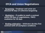 efca and union negotiations