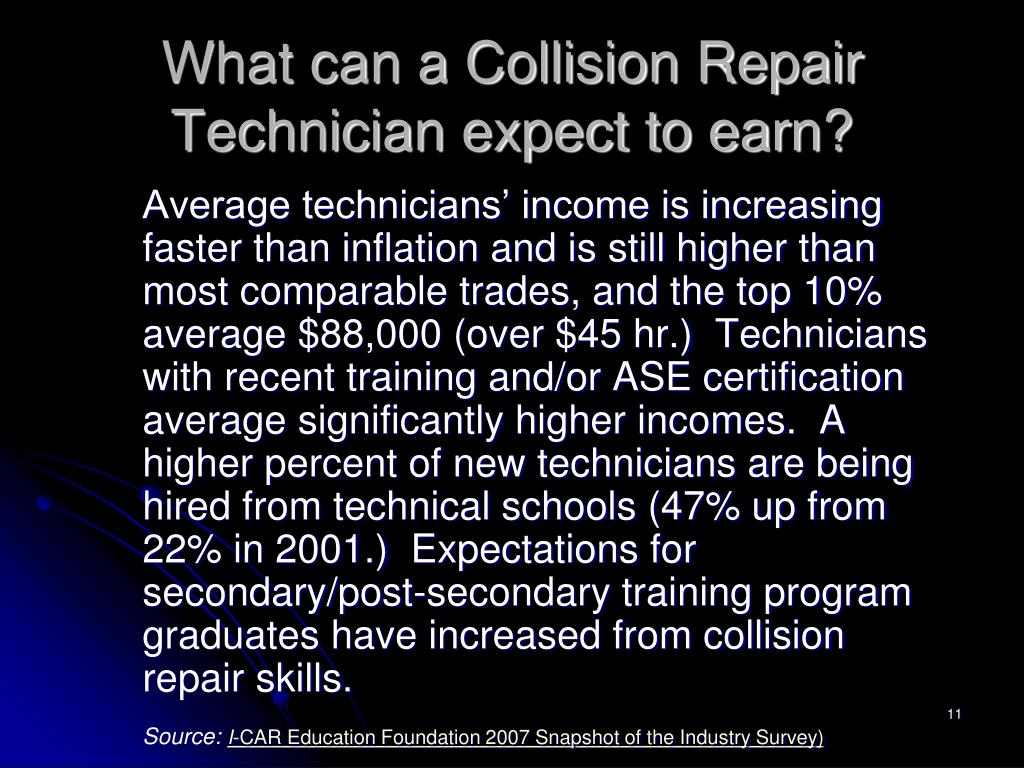 What can a Collision Repair Technician expect to earn?