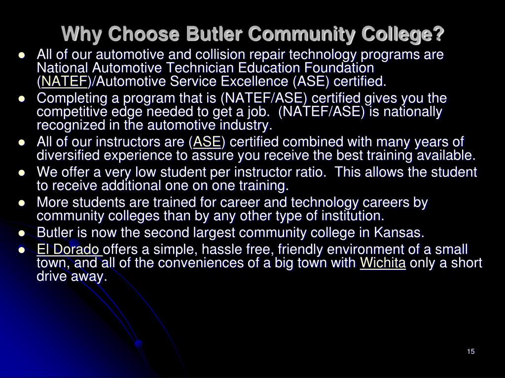 Why Choose Butler Community College?