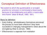 conceptual definition of effectiveness