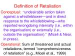 definition of retaliation