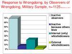 response to wrongdoing by observers of wrongdoing military sample n 1125 miceli et al 2001