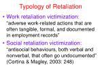 typology of retaliation