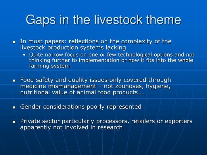 Gaps in the livestock theme