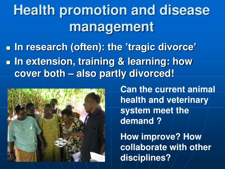 Health promotion and disease management
