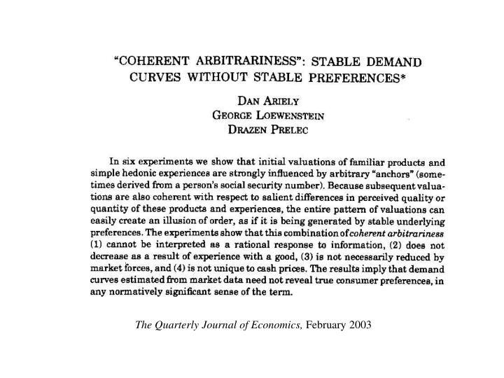 The Quarterly Journal of Economics,