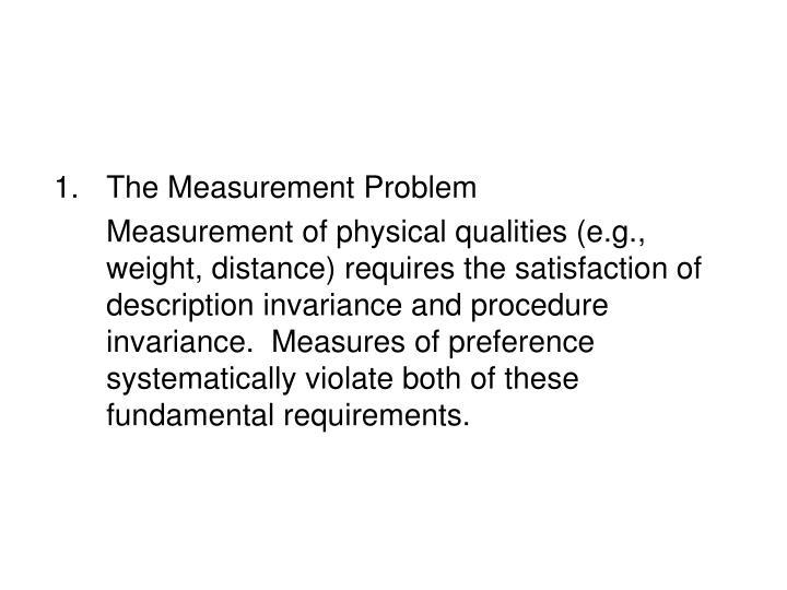 The Measurement Problem