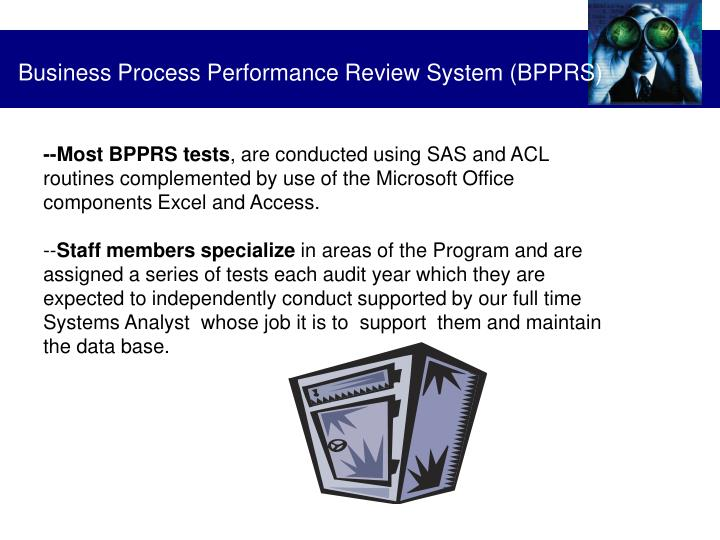 Business Process Performance Review System (BPPRS)