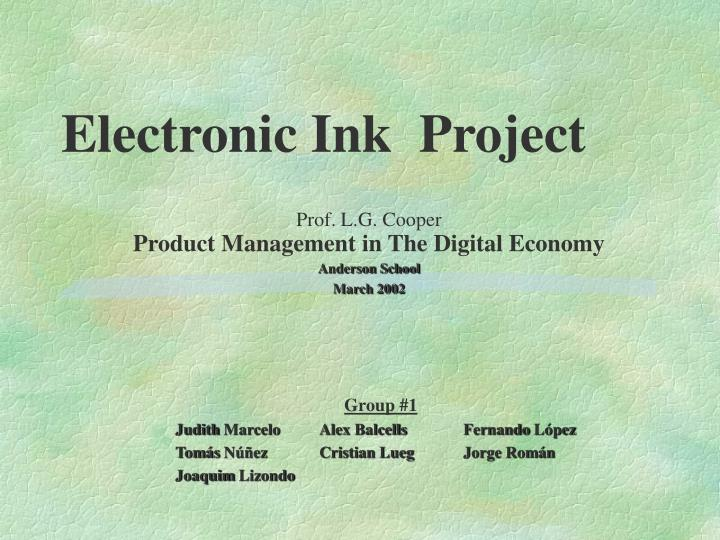 Electronic Ink  Project