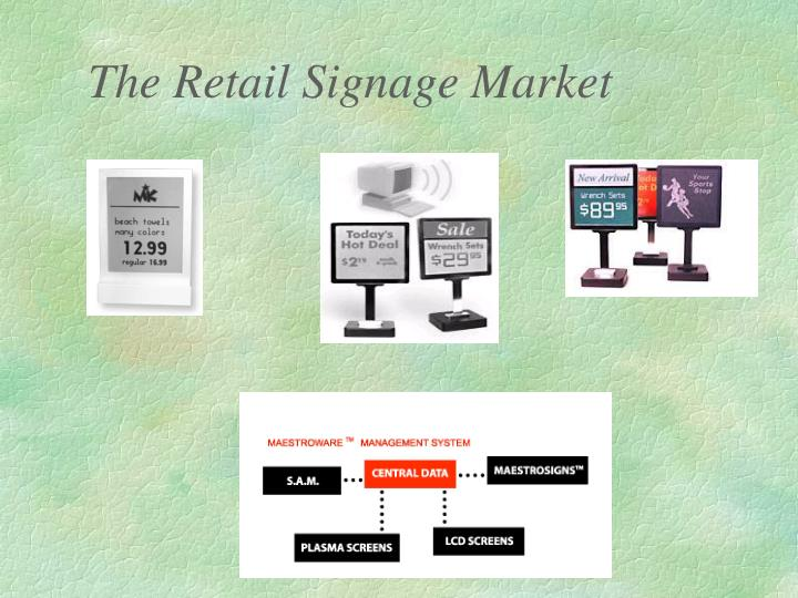 The Retail Signage Market