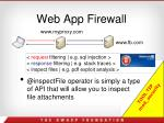 web app firewall