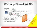 web app firewall waf