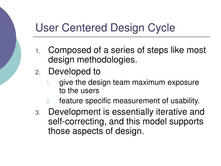 User Centered Design Cycle