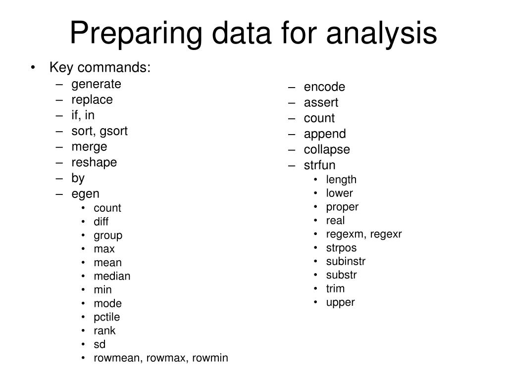 PPT - How many of these Stata commands have you used? PowerPoint