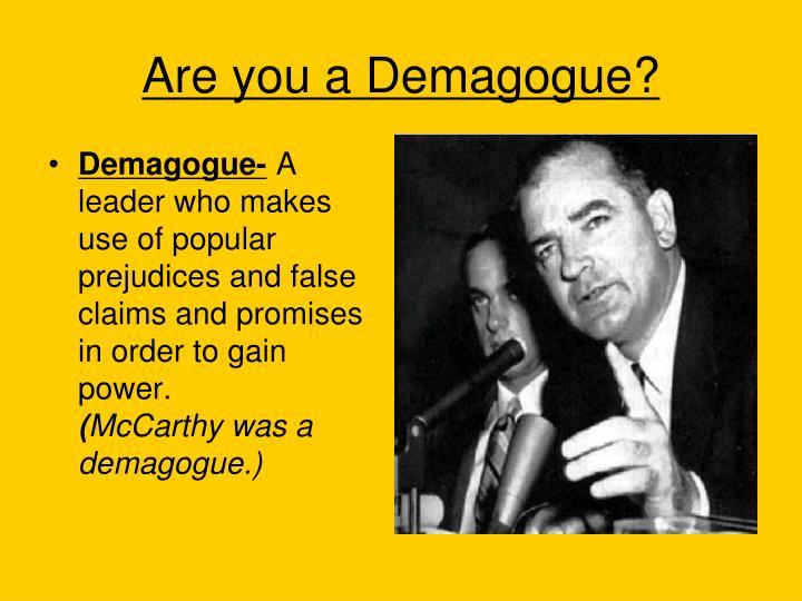 Demagogue-