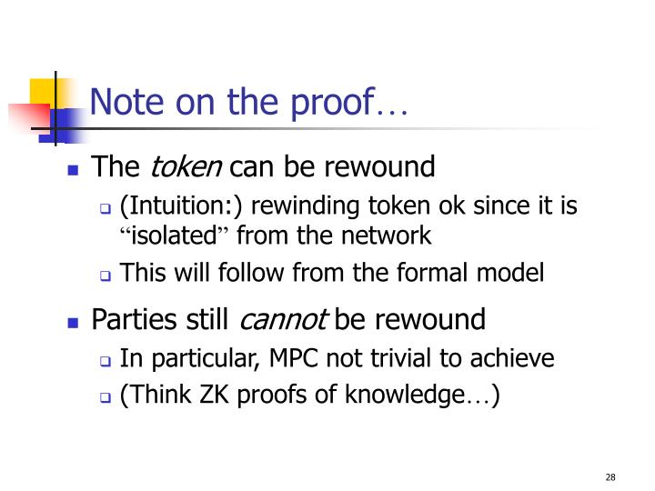 Note on the proof