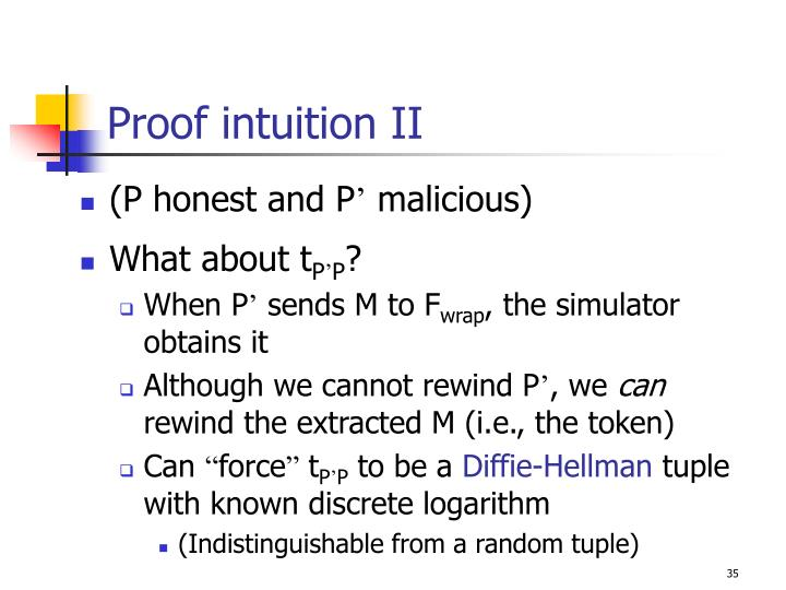 Proof intuition II