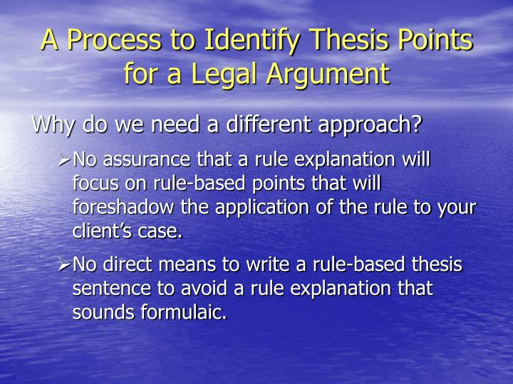 thesis pointers How to write a thesis belongs on the bookshelves of students, teachers and anyway, even the sardonic pointers on cheating are instructive in their way.