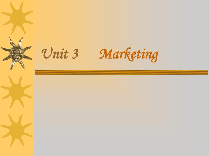 unit 3 marketing n.